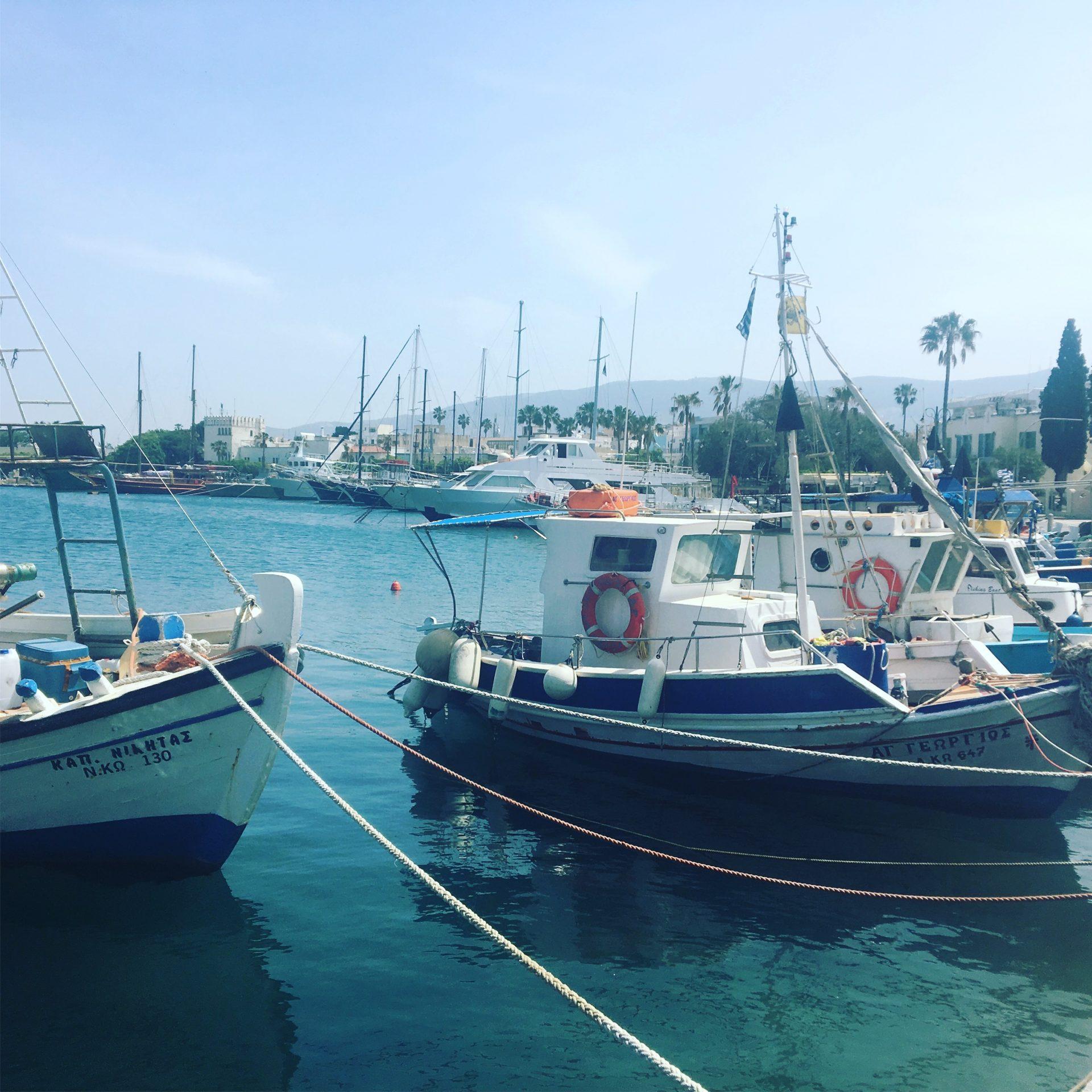 Fischerboote im Hafen von Kos